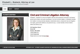 Attorney At Law - Elizabeth Bostwick - Boston, Massachusetts
