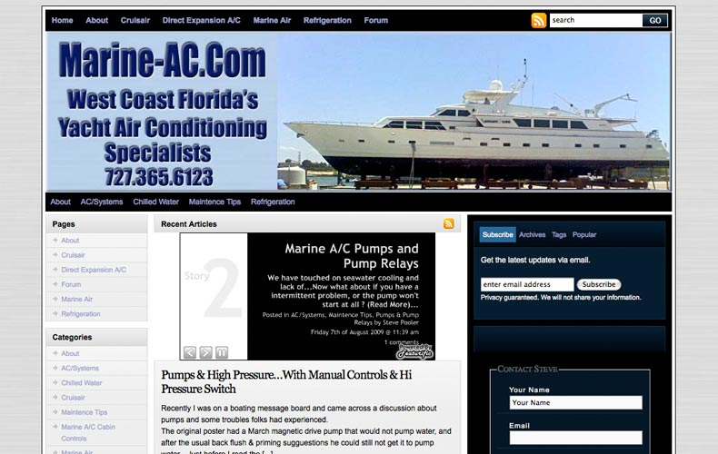 Marine-AC.com WordPress Getting Started