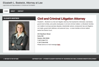 Attorney At Law - Elizabeth Bostwick - Boston, Massachusetts
