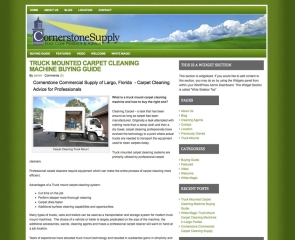 Carpet Cleaning Supplier - Cornerstone of Largo, Florida