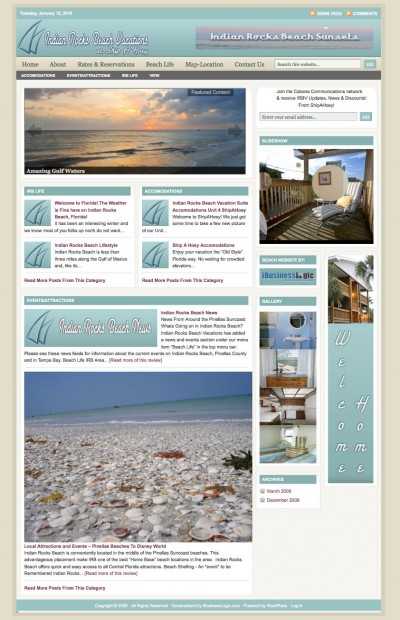 Indian Rocks Beach Vacation Rentals Website – Just the Ticket for Fun!
